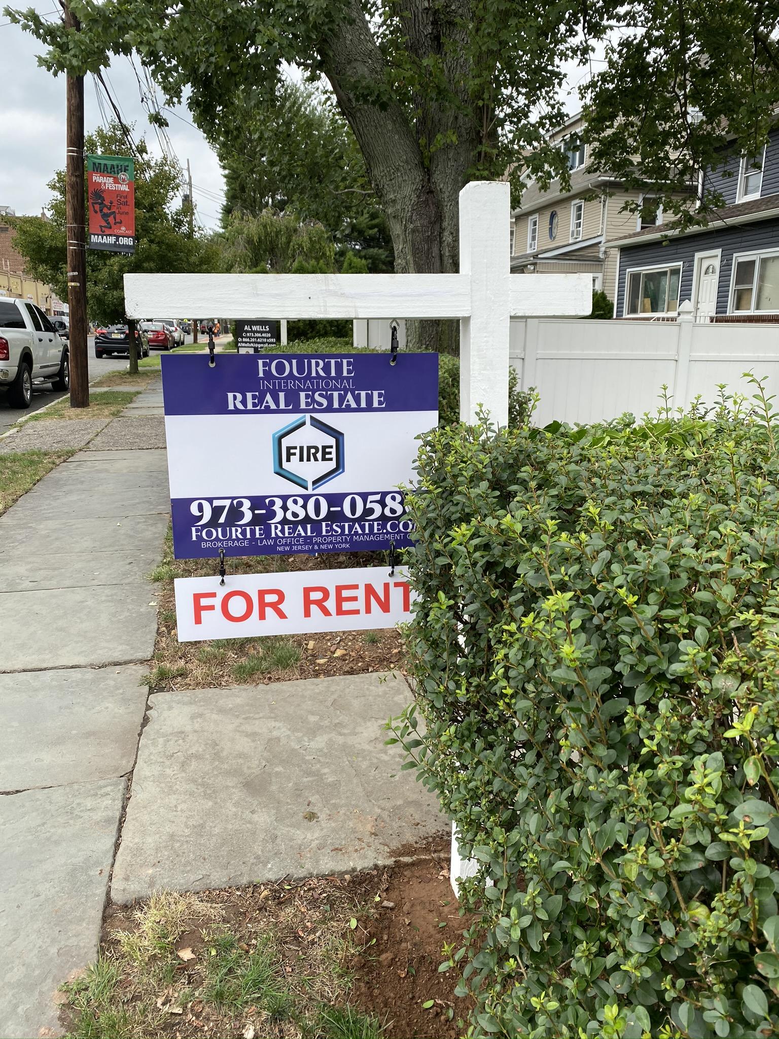Fourte International Real Estate For Rent sign on a property managed by Fourte International Real Estate