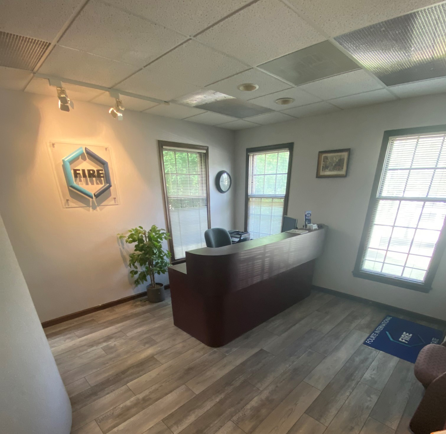 Lobby of Fourte International Real Estate's Headquarters building at 212 Pompton Avenue, Verona, New Jersey where home sellers, home buyers and property owners engage the services of New Jersey Real Estate Broker and New Jersey Attorney Michael Fourte.
